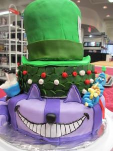 "The Cheshire Cat from ""Alice in Wonderland,""  a previous winner of the Edible Book Contest."