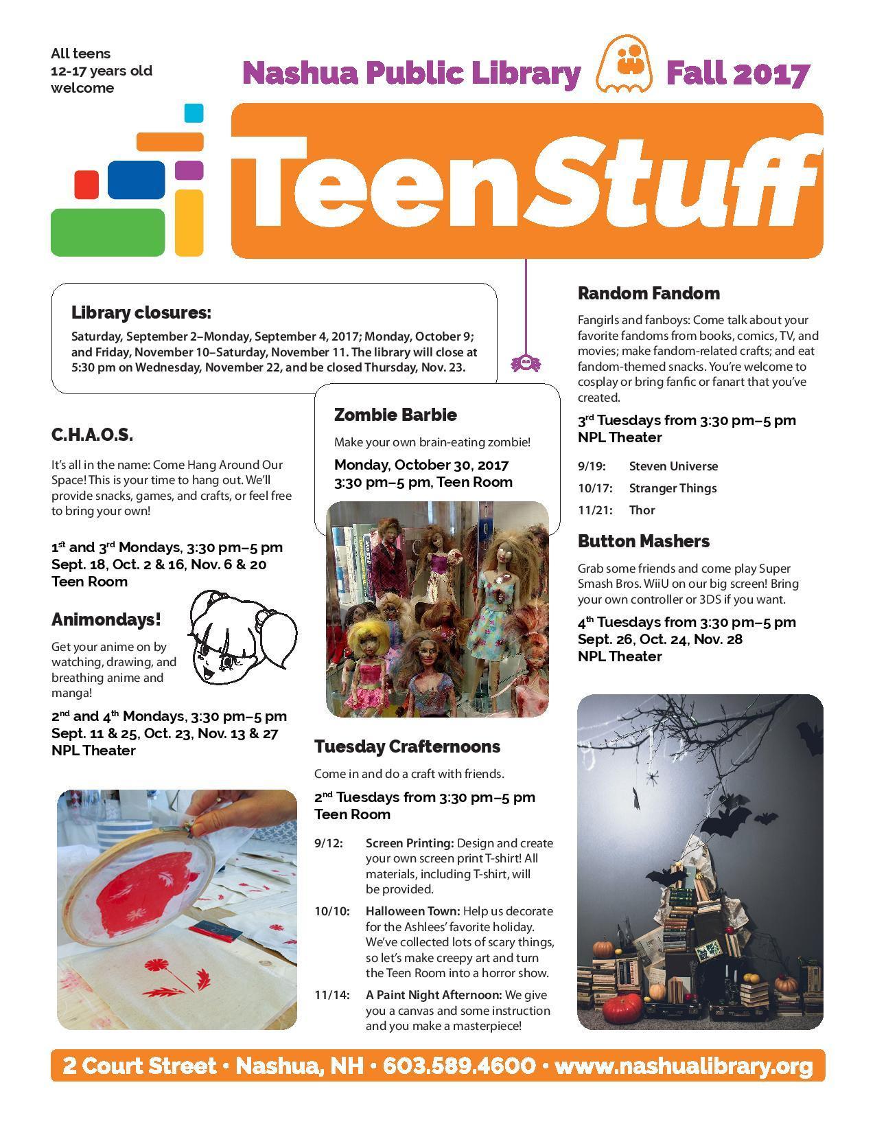 Teen Fall Reading