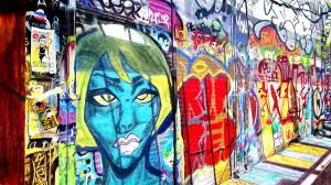 Graffiti Alley painting by Patti Ferron