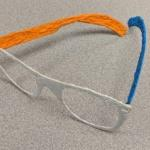 Glasses made with the 3-D pen.