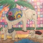 """""""Elephant Family"""" by Sandra Papadeas"""