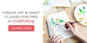 Stream art and craft classes for free at creativebug