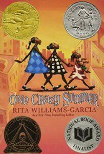 One Crazy Summer book jacket, by Rita Williams-Garcia