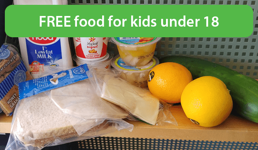 free food for kids under 18