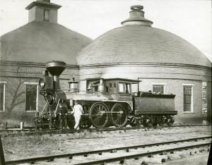 Woodburning locomotive at Round House