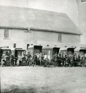 Ice company wagons