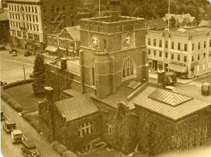 Hunt Memorial Library tower