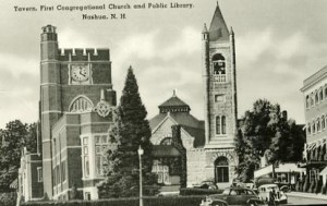 Library Hill postcard