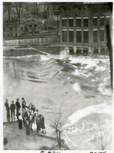 Flood waters at Jackson Company dam
