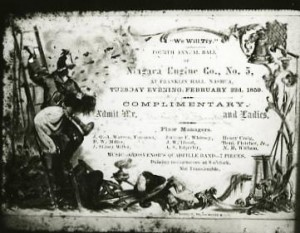 Firemen's Ball admission ticket