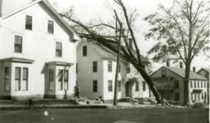 Hurricane damage on Temple Street