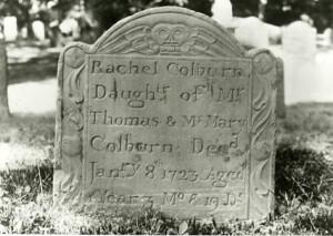 Headstone of Rachel Colburn