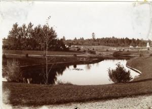 Pond in Edgewood Cemetery