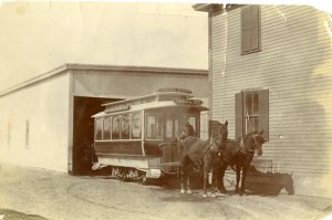 Horse-drawn trolly