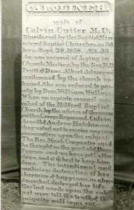 Gravestone of Caroline H. Cutter