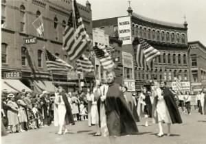 WWII-era parade