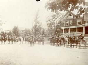 Fraternal organization on horseback