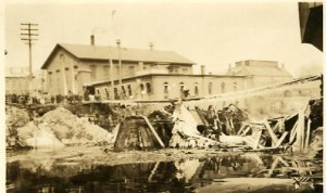 Main St. Bridge after fire (1925)