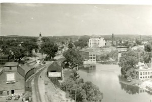 Train station and Nashua River