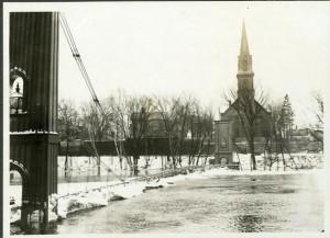 High Water Jackson Co. Foot Bridge