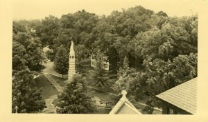 Aerial of Abbott Square