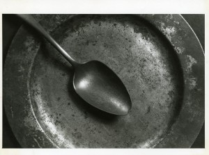 Metal plate and spoon