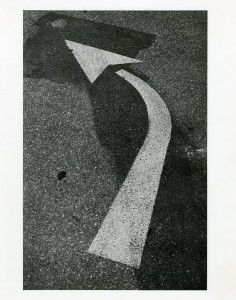 Painted traffic arrow