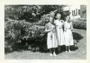 Etta Lovejoy, Dorothy Hanes, Christine Rockwood
